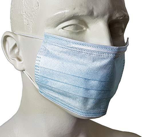 10 Stück P-Collection Einweg Mundschutz Maske 3-lagig Blau