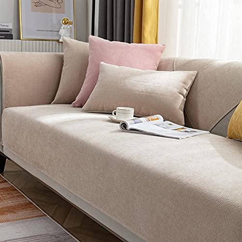 Copridivano Elastico All-Inclusive Federa lombare bianco crema 30 * 50 cm, copridivano per soggiorno, fodera per divano antiscivolo Fodera per mobili Fodera per divano angolare Asciugamano