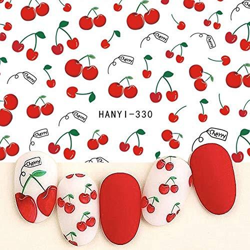 BLOUR 1 Hoja de Pegatinas 3D de Frutas paradecoración deuñas, calcomaníasAutoadhesivas de Medusas, Accesorios, manicura, Gel, Puntas de Esmalte, decoración