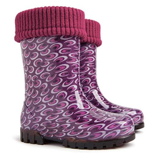 Demar LUX rubberen laarzen, regenlaarzen, kinderlaarzen, gevoerd met binnensokken, meisjes, maat 28/29