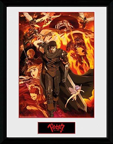 1art1 Berserk - Collage Gerahmtes Bild Mit Edlem Passepartout   Wand-Bilder   Kunstdruck Poster Im Bilderrahmen 40 x 30 cm