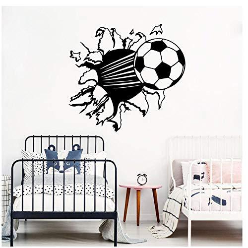 Mingkk - Adhesivo decorativo para pared (tamaño grande, 56 x 52 cm), diseño de jugador de fútbol