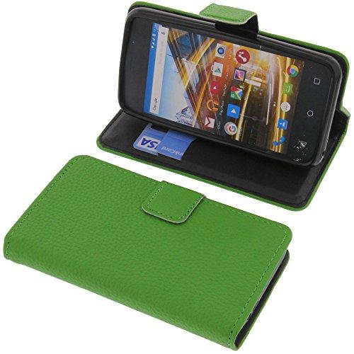 foto-kontor Tasche für Archos 40 Neon Book Style grün Schutz Hülle Buch