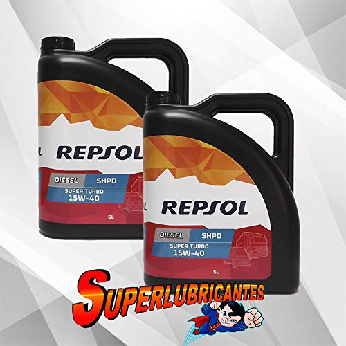 Mundocoche Repsol Elite Diesel Super Turbo 15W40 SHPD 2x5L(10Litros)