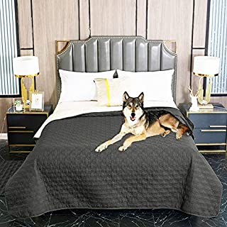 nanbowang Antislip Waterproof Dog Bed Cover Pet Blanket for Furniture Bed Couch Sofa