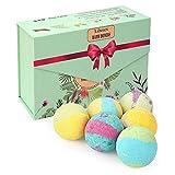 Liberex Boules de Bain Effervescentes - Kit de Bombes de Bain Multicolores pour Homme Femme Enfant, Spa Luxueux, Bain Moussant Senteur Relaxante, 6X100G
