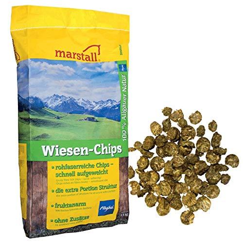 marstall Premium-Pferdefutter Wiesen-Chips, 1er Pack (1 x 15 kilograms)