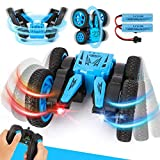 BeebeeRun Remote Control Car for Kids- 4WD RC Cars Remote Control Stunt Toy Doubile Sided Rotating Tumbling 360° Flips, 2.4GHz Fancy Wheel Tricks with Led Head-Lights, Gifts for Boys & Girls