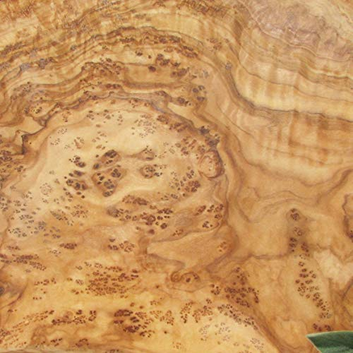 Tabla de madera de olivo, cuadrada, práctica, bonita, para servir, tabla de cortar, madera de olivo de grano fino, longitud 20 cm, ancho 20 cm.