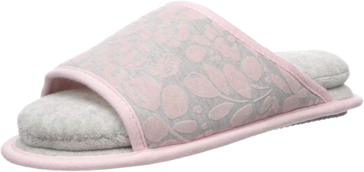 Dearfoams Women's Flocked Cloud Step Slide Slipper