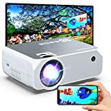 Wi-Fi Mini Projector, 6000 Lux, Bomaker Portable Projector for Outdoor Movies, HD Outdoor Movie Projectors, Wireless Mirroring, for iPhone/ Android/ Laptops/ Windows/ PCs - White