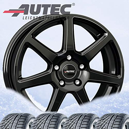 4 ruedas de invierno Autec Tallin 6,5 x 16 ET45 5 x 108 negro con 205/55R16 91H Hankook Winter i*cept W452 RS2 para Peugeot 308/20/