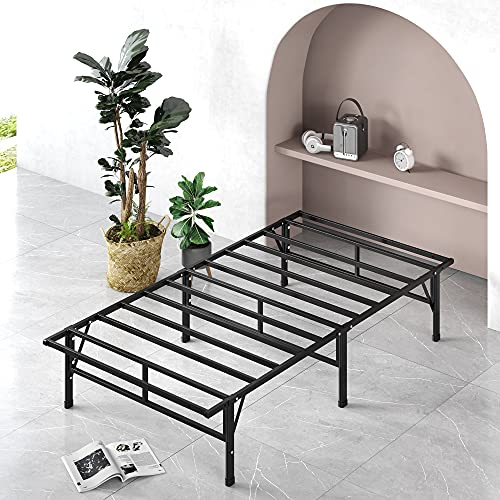 ZINUS SmartBase Compack Mattress Foundation / 14 Inch Metal Bed Frame / No Box Spring Needed / Sturdy Steel Slat Support, Twin