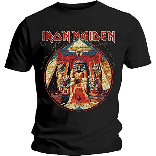 Tee Shack Iron Maiden Powerslave Album Bruce Dickinson Oficial Camiseta para Hombre (X-Large)