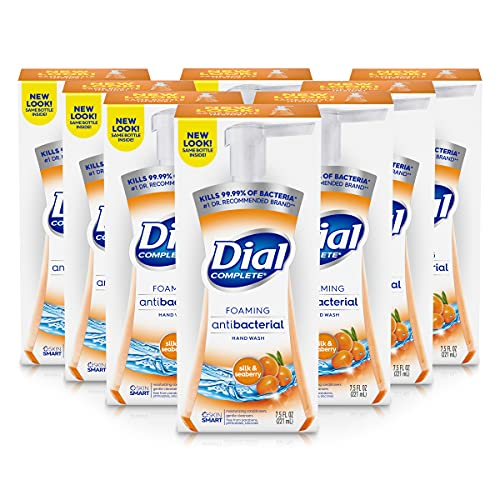Dial Complete Antibacterial Foaming Hand Soap, Omega Moisture, 7.5 Fluid oz (Pack of 8)