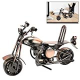 AFASOES Modelo de Motocicleta de Hierro, Vintage Retro Motocicleta, Regalo para Amantes de la Moto, Cumpleaños, Amigo, Familias y la Colección de Arte o Decoración del Hogar Oficina de Escritorio