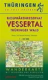 Wanderkarte Biosphärenreservat Vessertal/Thüringer Wald: Mit Ilmenau, Masserberg, Neustadt/Rennsteig, Schleusingen, Oberhof, Schmiedefeld, SuhlMit ... Maßstab 1:30.000. (Thüringen zu Fuß erleben)