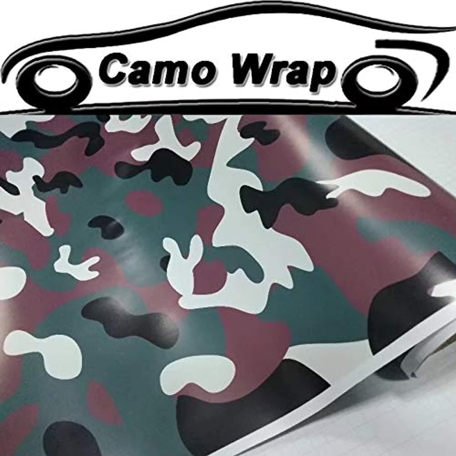 Forest Vinyl Film Black Green Car Wrap with Air Bubble Free Army Green Car Sticker Decal Full Body Wrapping  (Size  152CMx15M 5X49FT)