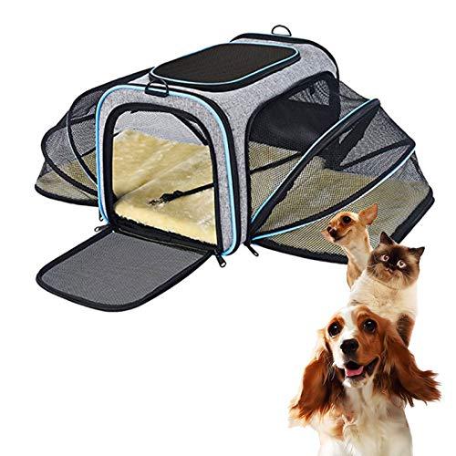 HXXXIN Bolsa De Viaje para Mascotas, Bolsa De Mensajero Portátil De Malla Transpirable Portátil, Tienda Elástica Plegable, La Carga Máxima Es De 15 Libras
