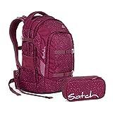Satch Schulrucksack 2tlg. Set (mit SchlamperBox) (Pack Berry Bash)