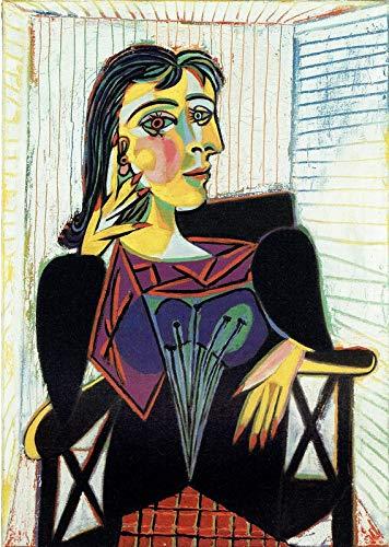 Póster, diseño de retrato de Dora Maar 1937 Picasso – Mejor Print Art Reproduction Quality Wall Decoration Gift Talla:Poster A0