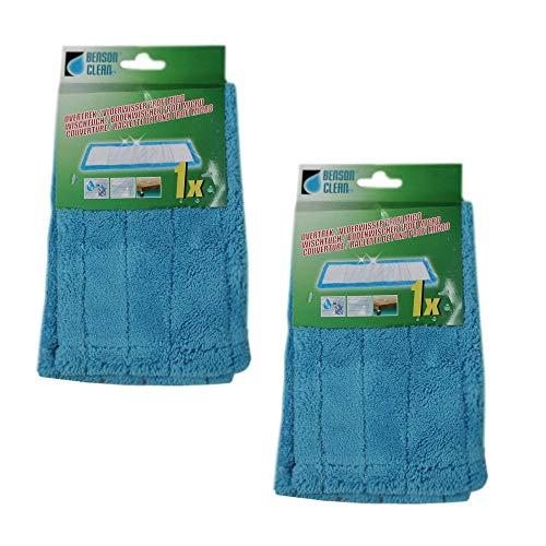 Benson 2 x microvezeldoek reinigingsdoek mop wisdoeken vloerwisser vloerreiniger microvezelmop reserveovertrek