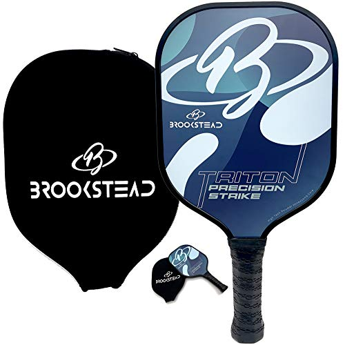 Brookstead Pickleball Paddle, Graphite Face, Polymer Honeycomb Core, Low Profile Edge Guard, Non Slip Grip, Racket Cover and Bonus Overgrip Included, Perfect Balance of Power, Control, Accuracy