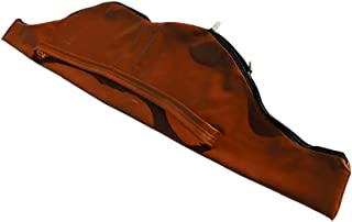 Nachvorn Hunting Shooting Archery Bag Case Brown Leather Arrows Bag for Recurve Long Hunting Bow Protector for Hunting, Shooting
