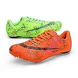 Tyfiner Clavos De Carrera Calzado para Hombres Clavos Spikes Zapatos Atletismo Zapatos Zapatillas Deportivas de Malla Ultraligeras y Transpirables,004,43EU