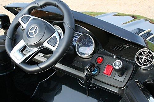 RC Auto kaufen Kinderauto Bild 5: Mercedes-Benz Kinderauto SL65 AMG Coupe Elektroauto Kinderfahrzeug Ledersitz (schwarz)*