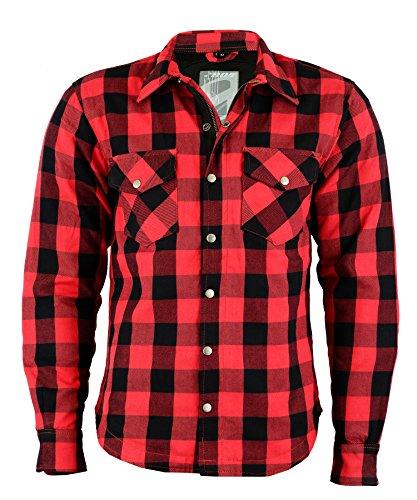 BOSMOTO Lumberjack Jacken-Hemd Rot, Reißfest, Wasserabweisend, XL