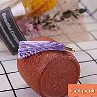 10-50ピースの金属製のキャップタッセルジュエリーのカーテンの衣服装飾的なDIYのキー携帯電話のフリンジトリムタッセルペンダント tanglibengmeiguo (Color : Light purple, Size : 10Pcs)