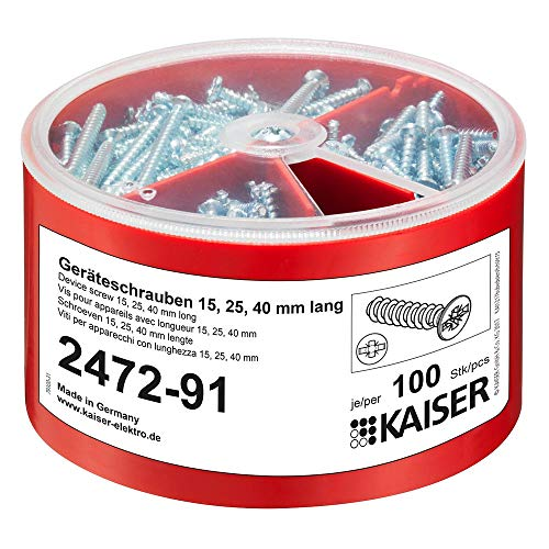 Kaiser 2472-91 Schraubenbox Geräte- und Deckelbefestigung