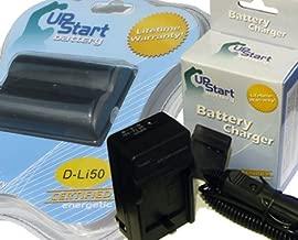 Pentax D-Li50 Battery and AC/DC Dual Charger Kit for Pentax, Konica Minolta NP-400 and Samsung Digital Cameras