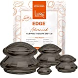 Lure Edge Cupping Set for Massage Therapists and Home Cupping Therapy Massage, Silicone Cupping Set, Onyx, Flex