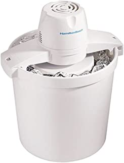 Hamilton Beach 68330N 4-Quart Automatic Ice-Cream Maker,Cream (Renewed)