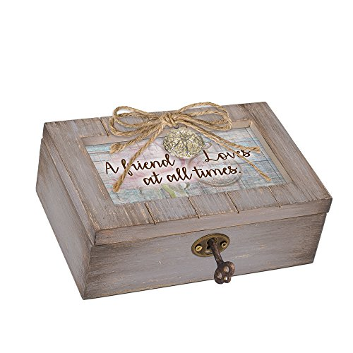 Cottage Garden A Friend Loves at All Times Grey Locket Petite Music Box Plays What a Wonderful World