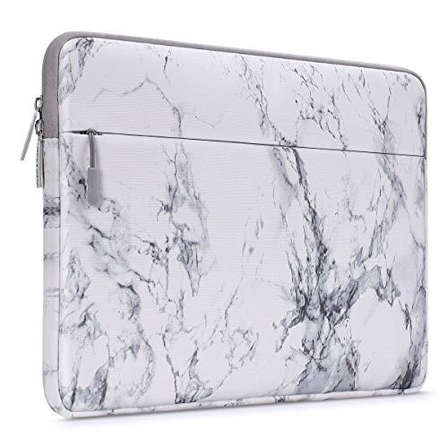 MOSISO Laptop Hülle Tasche Kompatibel mit 11,6-12,3 Zoll Acer Chromebook R11/HP Stream/Samsung/Lenovo C330/ASUS C202/MacBook Air 11/Surface Pro X/7/6/5/4/3,Canvas Marmor Muster Sleeve Schutzhülle,Weiß