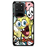 for Galaxy Note 20/20 Ultra/10 Pro Plus Hybrid Defender Case Cover Premium 9H Glass Screen Protector - Cute Cartoon Character Spongebob Friends