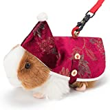 Devonlosky Small Animals Harness and Leash, Guinea Pig Ferret Rats Soft Harness Leash Cloak Set with Bell for Small Pet Chinchilla Iguana Rabbit Squirrel and Small Dog Cat