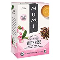 海外直送品Numi Tea White Tea Rose, Rose 16 bags