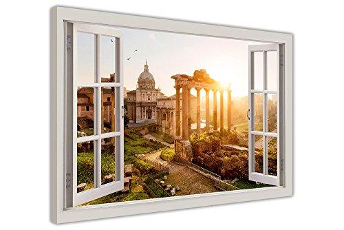 CANVAS IT UP Antike Rom Bilder 3D Fenster Effekt Leinwand Bilder Art Wand City Prints Größe: 101,6x 76,2cm (101x 76cm)