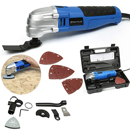 Big Save! 180W Multi Oscillating Tool with 17-Piece Universal Accessories, 21000rpm Loading Speeds, with Storage Case Easy Carry and Transportation