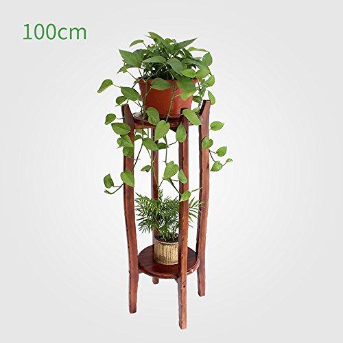 Théâtre végétal Support de fleur en bois massif Cadre de bonsaï multicouche intérieur 60cm/80cm/100cm Idéal cadeau jardinier (taille : 100cm)