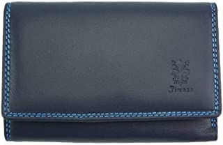 Portafoglio Mirella in pelle morbida di vitello - PF052B - Portafogli in pelle (Blu scuro)
