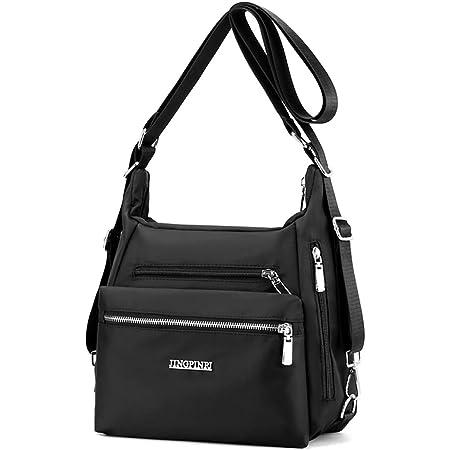 YANAIER Rucksack Tasche Damen 3 in 1 Handtasche Schultertasche Stilvolle Multifunktionale Umhängetaschen für Reise Outdoor Alltag Schule Einkauf Schwarz
