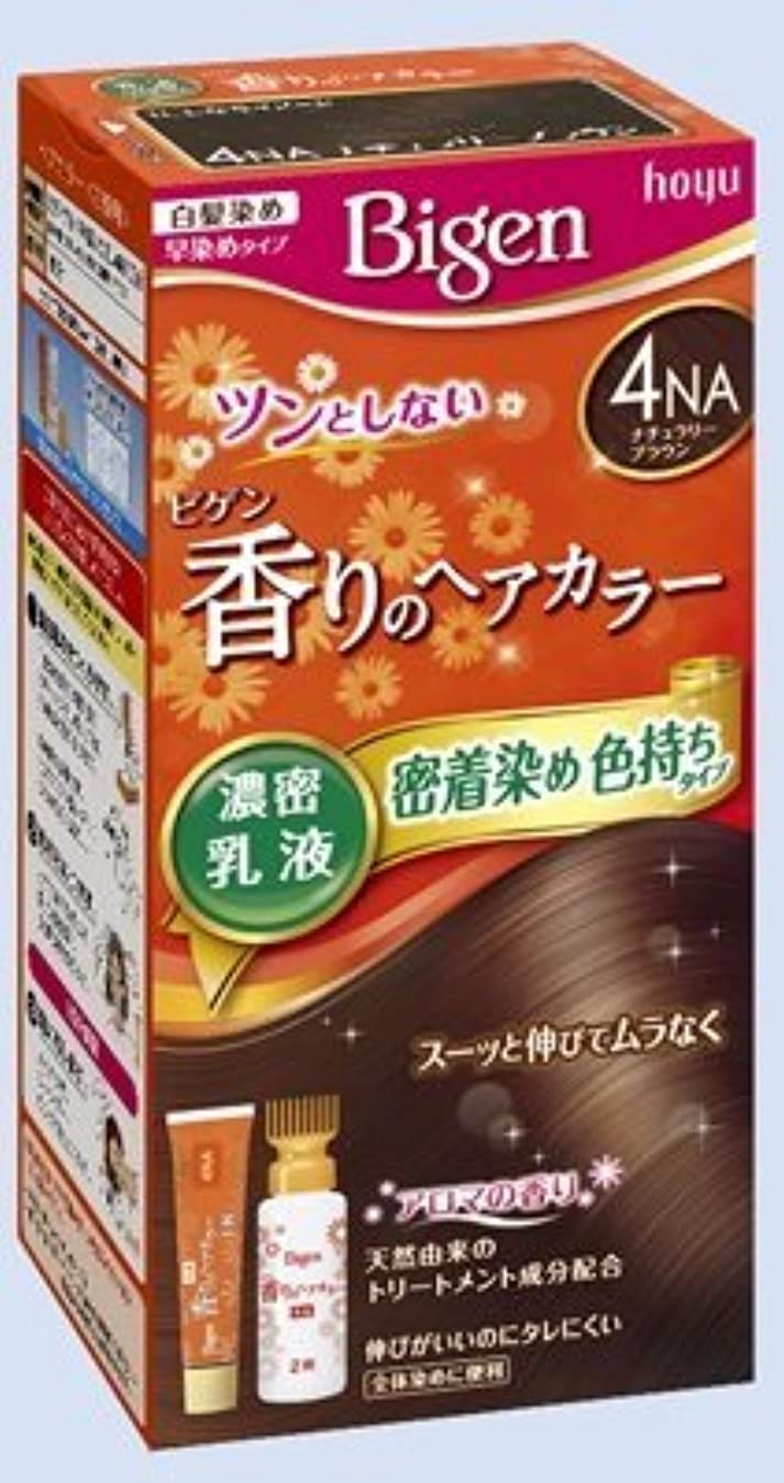 絶望的なディスパッチしないビゲン 香りのヘアカラー 乳液 4NA ナチュラリーブラウン × 5個セット