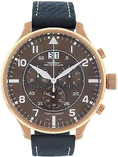 Zeno - Watch Reloj Mujer - Super Oversized Chrono Big Date Navigator Brown - 6221N-8040Q-Pgr-a6