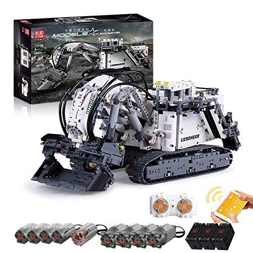 HYZM Technik Bagger Modell Bausteine, 4062 Teile 2.4G Ferngesteuert Bagger Raupenbagger mit Motoren Set, Kompatibel mit Lego Technic