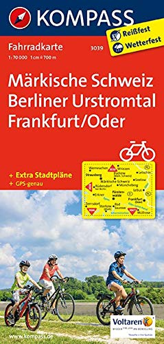 KOMPASS Fahrradkarte Märkische Schweiz - Berliner Urstromtal - Frankfurt/Oder: Fahrradkarte. GPS-genau. 1:70000 (KOMPASS-Fahrradkarten Deutschland, Band 3039)